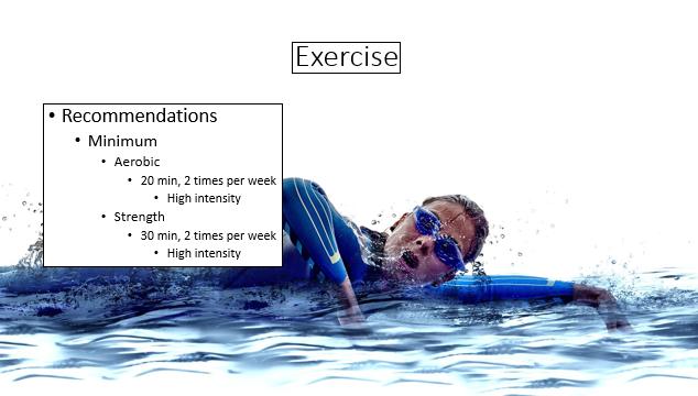 swimmer exercising